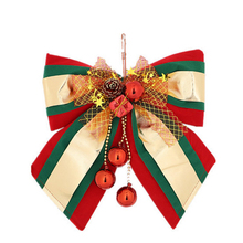 Creative Bowknot Pine Cone Christmas Ornament Delicate Christmas Tree Hanging Decoration L Size Mixed Color Tricolor-Large