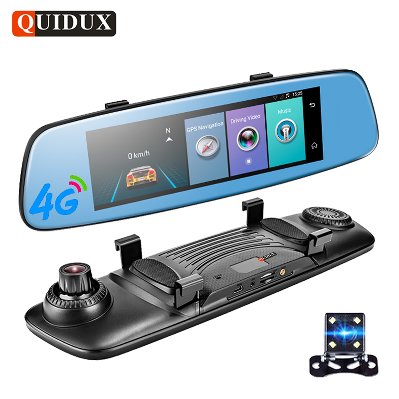 QUIDUX 7 84 Inch 4G Android font b Car b font Video Recorder Full HD 1080P