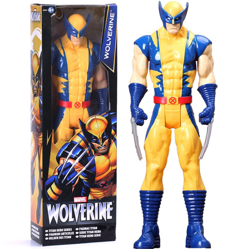 The AVENGERS Marvel Action Figure Toy Wolverine Super Hero X-men PVC Collectible Titan Hero Series With Box Doll Gift 1230CM super heroes wolverine x men piggy bank coin money bank pvc action figure collectible model toy save money box for gift