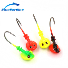 BlueSardine 8PCS 10G 4.5CM Jig Hooks Metal Fishing Hook Jiging Fishhook Fishing Tackle