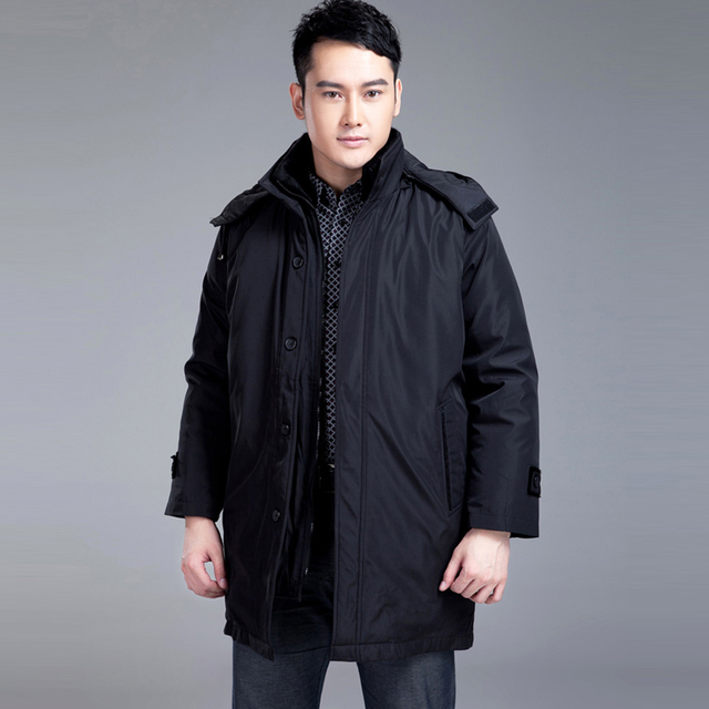 Mid Long Thick Warm Winter Jacket Men 2016 Business Casual Down ...