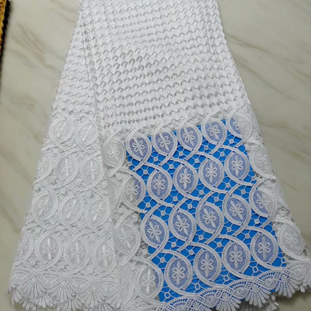 (10 Farben) Hohe Qualität Afrikanischen Guipure-spitze Stoff Wasserlösliche Spitze Stoff Für Elegante Partei Kleid (5 Yards/pc) Jc05-1 Elegante Form