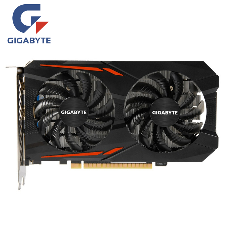 Carte graphique GIGABYTE d'origine GPU GTX 1050 2 GB carte graphique 128Bit GP107-300 pour carte NVIDIA Geforce GTX1050 2 GB VGA HDMI PCI-E