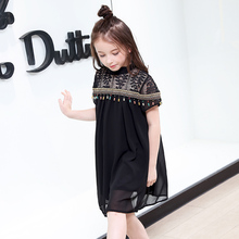 Girl Summer Dress 2018 New National Style Children Ethnic Embroidered Dresses Big Girls Chiffon Princess Costume