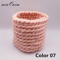 Honey Pot Nest Basket Newborn Photography Props Baby Photo Blanket Basket Knitting Braid Stuffer Eggshell Shape Knitted Baskets