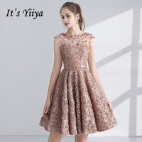 7061cc42cd1e7 It's YiiYa Illusion Sleeveless Backless Lace Appliques Cocktail ...