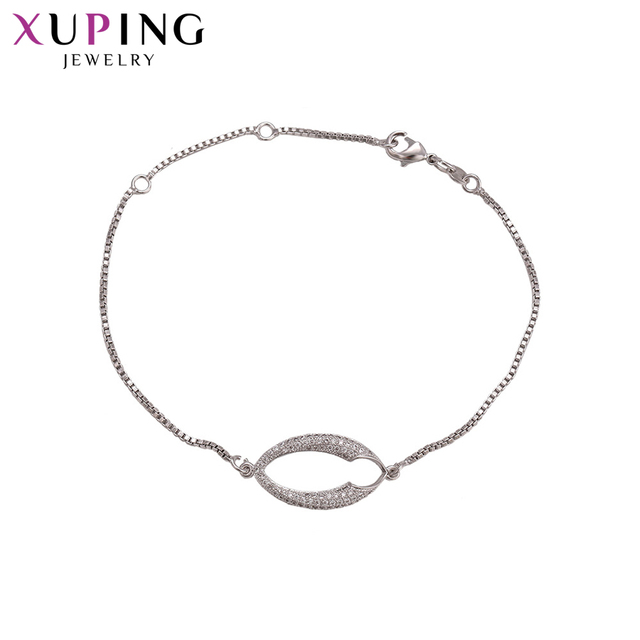 Xuping Fashion Luxury Temperament Ladies Style Bracelets Popular Design Bracelets for Women Girls Jewelry for Party S70,8-72650