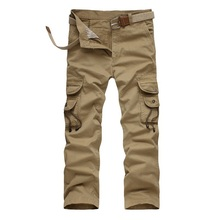 new Brand man Military Army Camouflage Cargo Pants Plus Size Multi-pocket Overalls Casual Baggy Trousers Men jogger