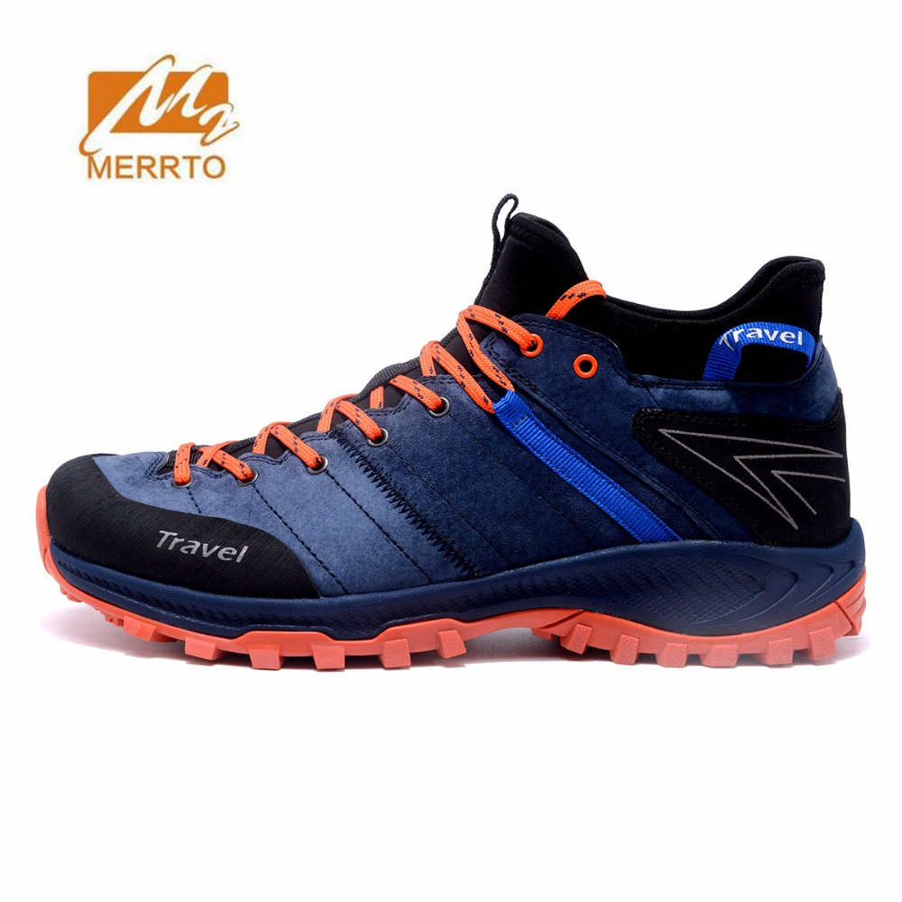 MERRTO Men's Leather Winter waterproof Hiking Shoes Tactics Boots anti-skid Sneakers Outdoor Climbing Mountain camping Shoes yin qi shi man winter outdoor shoes hiking camping trip high top hiking boots cow leather durable female plush warm outdoor boot