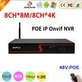 Красная панель Hi3536C Xmeye 8CH * 4 K/8CH * 8M 8CH 8-канальный H.265 + 48V WIFI POE Onvif IP камера CCTV NVR Бесплатная доставка