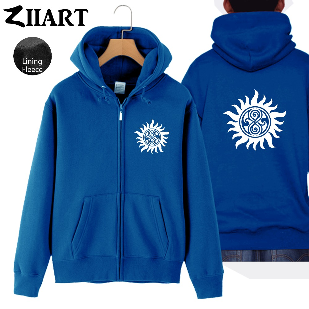 a57085df Pentacle Full Zip Jakke Svart Blue Supernatural Vinter Pentagram Høst Man  Lykke Blue God Rikdom Navy ...