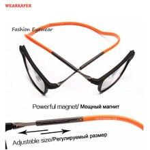 20adbccee1d WEARKAPER Magnet Reading Glasses Men Women Adjustable Hanging Neck Magnetic  Front Presbyopic Eyeglasses +1.00 +