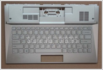 NEW US laptop keyboard for Sony Vaio D132 SVD13228SCW SVD13 English backlight Silver keyboard with Palmrest Cover