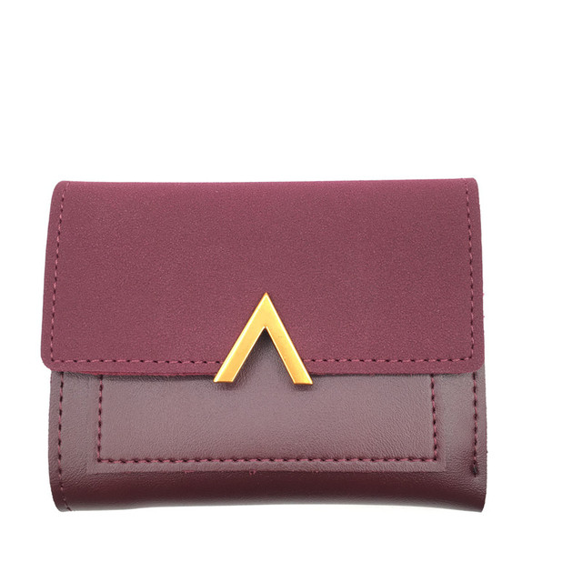 b04180562ae US $4.35  Matte Leather Small Women Wallet Luxury Brand Famous Mini Womens  Wallets And Purses Short Female Coin Purse Credit Card Holder-in Wallets ...