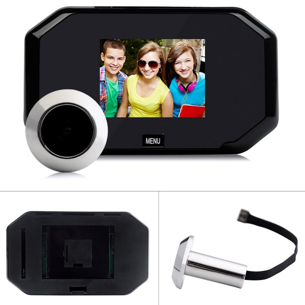 цена на Video eyes 3.0 Inch TFT LCD Digital Camera Door Peephole Viewer Doorbell Color Screen Video-eye Recorder Night vision 145 degree