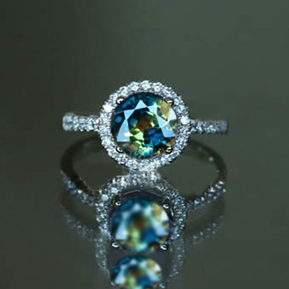 colorful youtube with stones watch engagement sapphire rings