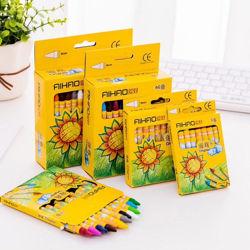 8 Colors Crayon Drawing For Kids Student Sketching Gift Set Bright Color High Quality Materials Safe And Nontoxic