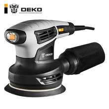 DEKO QD6206R 280W Random Orbit Sander with 15 Sheets of sandpaper Dust exhaust and Hybrid dust canister(China)