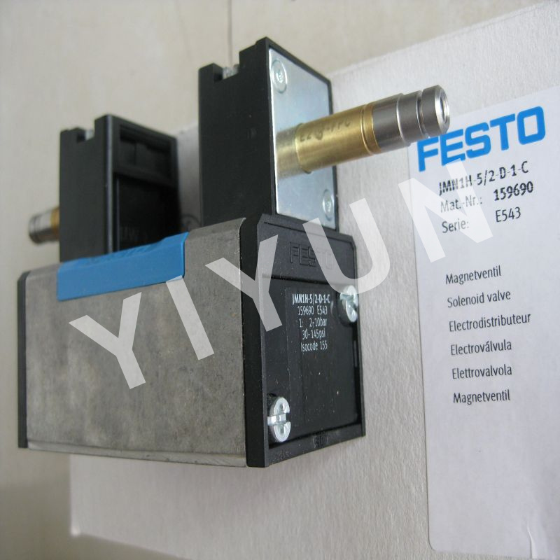 JMN1H-5/2-D-1-C 15690 JMN1H-5/2-D-2-S-C 159701 JMN1H-5/2-D-3-S-C 159713 FESTO Solenoid valve Pneumatic components pc400 5 pc400lc 5 pc300lc 5 pc300 5 excavator hydraulic pump solenoid valve 708 23 18272 for komatsu