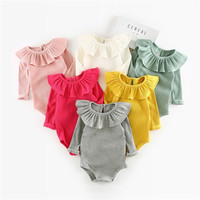 Winter Autumn Baby Girl Knitted Rompers Princess Newborn Baby Clothes Girls Boys Long Sleeve Jumpsuit Kids