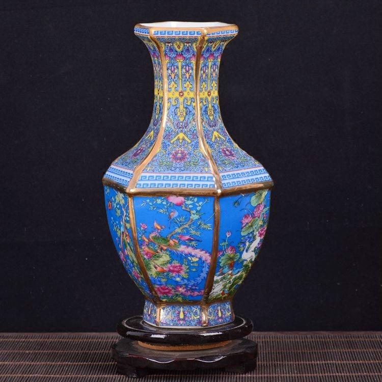 Antico Royal Vaso di Porcellana Cinese Decorativo Flower Vase Per La Decorazione di Nozze Vaso di Jingdezhen Vaso di Porcellana Regalo Di Natale