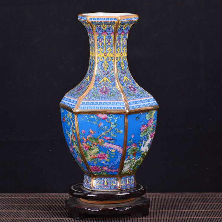 Royale Antique Chinois Porcelaine Vase Décoratif Fleur Vase Pour La Décoration De Mariage Pot Jingdezhen Vase En Porcelaine Cadeau De Noël