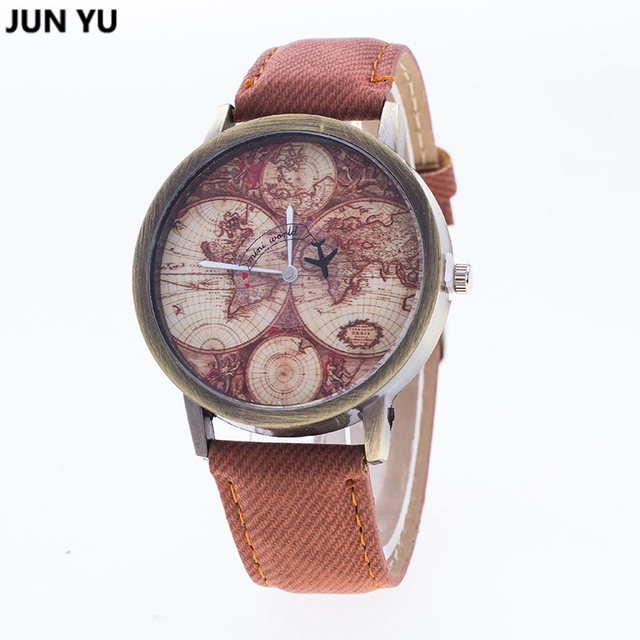 Aliexpress buy junyu world map watch globe graduation gift junyu world map watch globe graduation gift for women wanderlust gift unique map travel men watches gumiabroncs Image collections