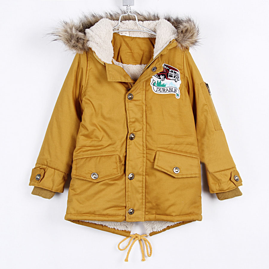 a2f92469c701 Boys Winter Coats Car Boys Clothing Baby Child Thickening Cotton ...