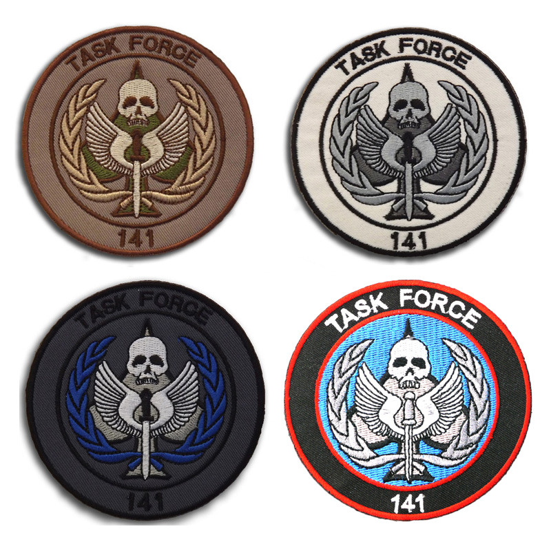 3pcs 141 Task Force Patch Embroidery Tactical Patch Cloth Morale