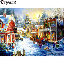 Dispaint Full Square/Round Drill 5D DIY Diamond Painting Character house Embroidery Cross Stitch 3D Home Decor A10990