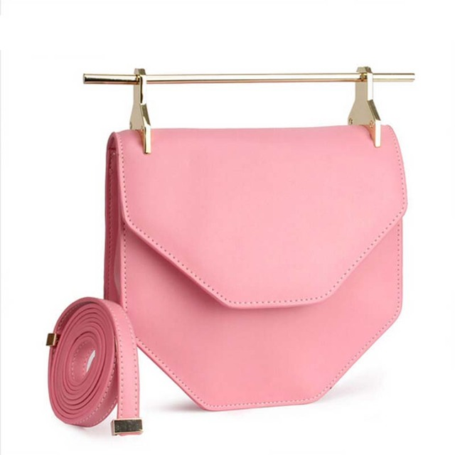 a4970f2008 2015 New Famous Brand Metal Rod M2malletier Bag Personality Europe Genuine  Leather Shoulder Clutch HandBag with Single Handle