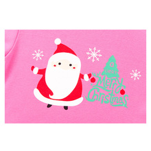 New Arrival Children Santa Claus Pink Pajama Sets for 2-8Yrs