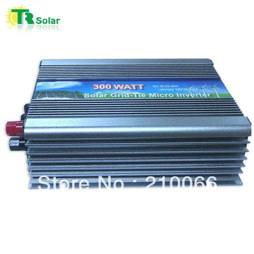 300W Gird Tie Pure Sine Wave Wide Voltage Micro Solar Inverter Matched with the 36-48V solar panel for Home Using Free Shipping