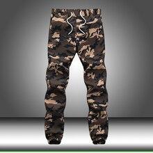 Loose Pocket Military Cargo Pants Men Cotton Autumn Pencil H