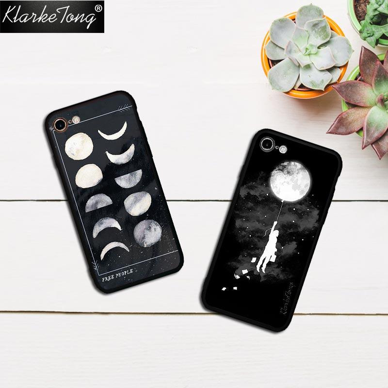 Cellphones & Telecommunications Trend Mark Klarketong Space Sky Climbing Moon Case For Iphone 7 6 6s Plus 5 5s Se Hybrid Silicone Matte Hard Back Luxury Phone Cover Quotes Phone Bags & Cases