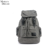 Mara's Dream The New Men's Fashion Canvas Backpack Male Korean Version The Influx High School Students Leisure Bags Tide Bag
