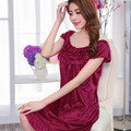 S-2XL New Sexy Robes Bathrobe For Women Silk Satin Nightgown Nightwear High-Grade Night Dress Nightdress Night Gown