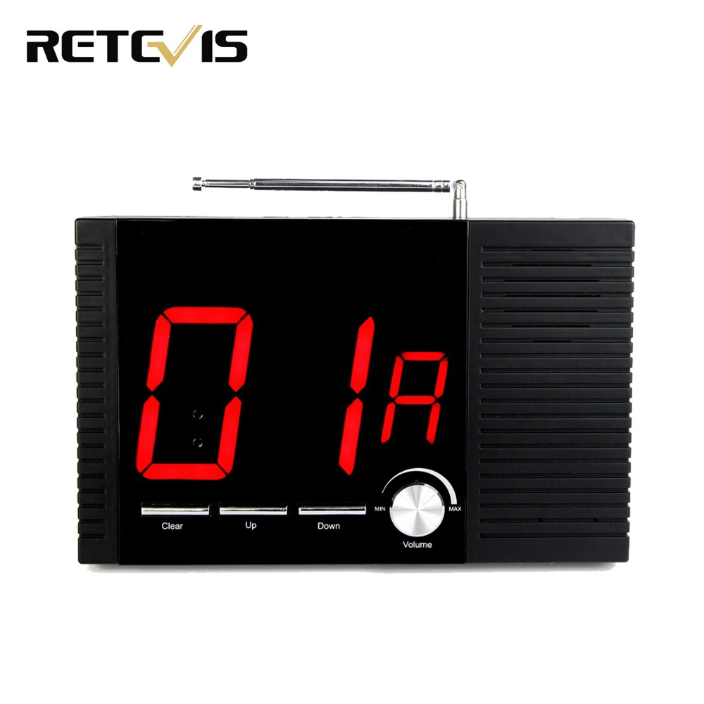 TIVDIO 99 Channel RF Wireless Paging Queuing System Receiver For Hotel Restaurant Voice Broadcast Calling Button System Screen wireless service calling system paging system for hospital welfare center 1 table button and 1 pc of wrist watch receiver