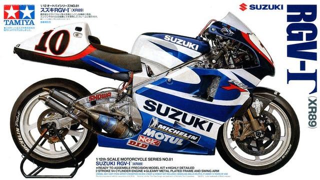 Tamiya modelo Kit Suzuki RGV-1 XR89 Motobike - 1:12 Scale - 14081 nova