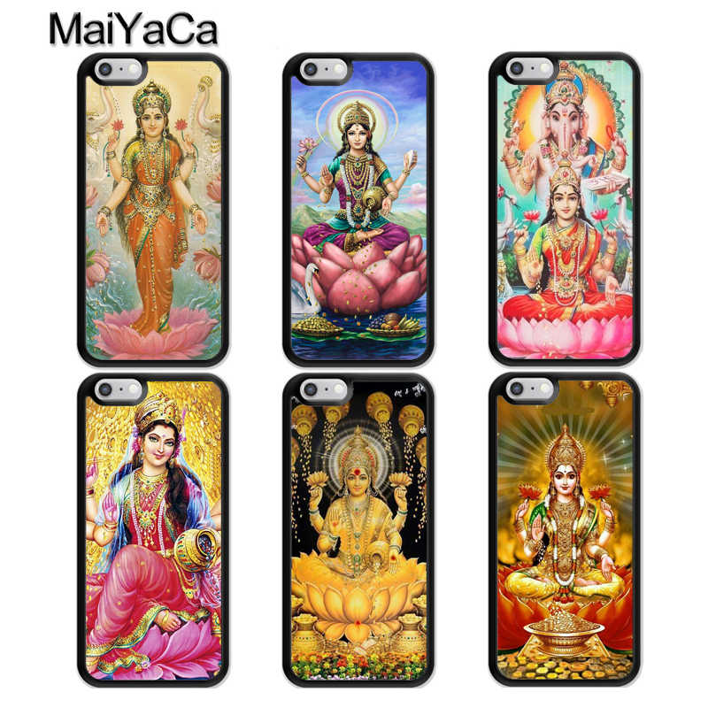 MaiYaCa Lakshmi Hindu Goddess Rubber Phone Case For iphone 11 Pro MAX X XR XS MAX 6 6S 7 8 Plus 5 5S TPU Back Cover Fundas