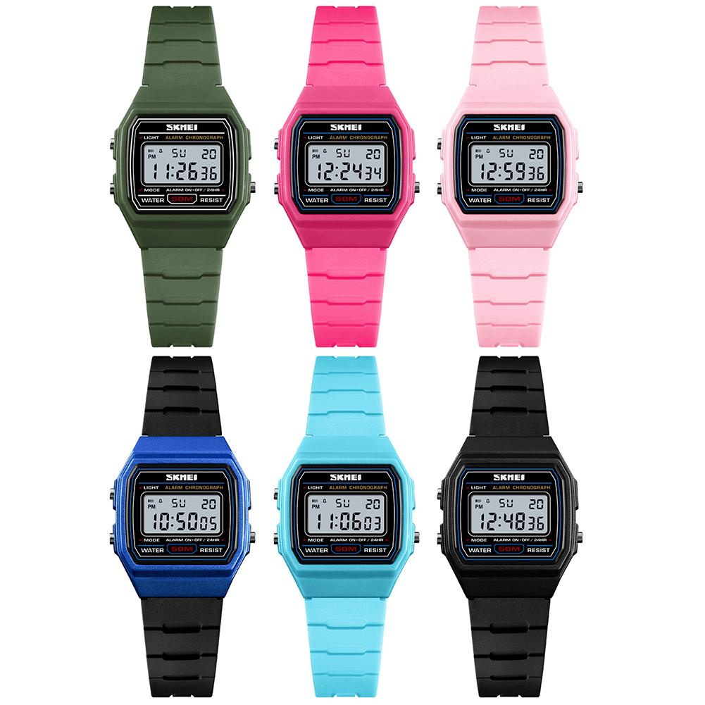 SKMEI Digital Watch Waterproof Women Electronic-Watches Fashion 50M Student for Girl