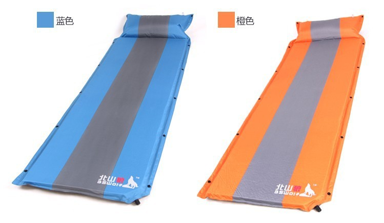 ФОТО 1 person camping mat 195*60cm Automatic blow-up dampproof mat With bags Camping supplies Free shipping