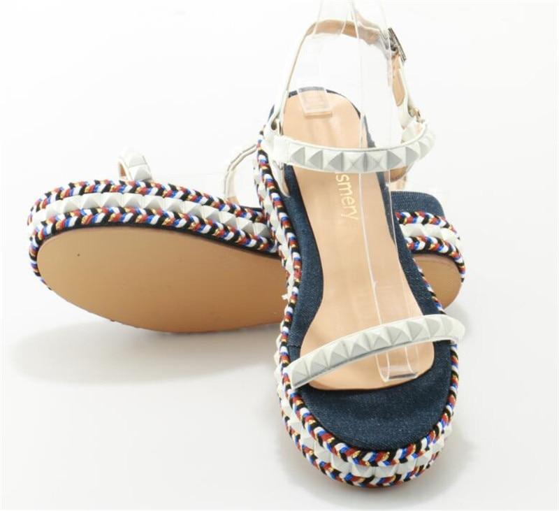 Robe Chaussures Sandales Blanc Verre De Sangle Femmes Plate Mode Cheville Pic Design Belle Haute Fond forme Cqng6wTZ