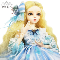 24 Cinderella BJD Full Set + Handmade Makeup + 1/3 SD BJD Doll jointed doll 60cm Fairy Toy Doll Gift for Girl Children