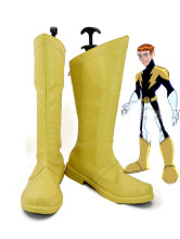 Legion of Super-Heroes Lightning Lad Cosplay Shoes Yellow Boots Lightning Lad Costume Props Shoes Custom Made(China)