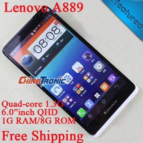 """Цена за Оригинал Lenovo A889 MTK6582 Quad core Android 4.2 многоязычная 8.0MP Камера 3 Г WCDMA Dual SIM 6 """"дюймов 1 Г RAM/8 ГБ ROM FreeGift"""