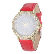 Vogue Girls's Diamond Leather-based Analog Quartz Wrist Watches Coloration: Pink