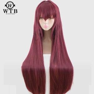 Image 5 - WTB peluca sintética de Scathach para Cosplay, disfraz de Fate/Grand Order, pelucas de juego, Disfraces de Halloween, cabello, material de alambre de alta temperatura