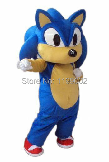 New arrival Cartoon Character Sonic Hedgehog Mascot Costume Free shipping
