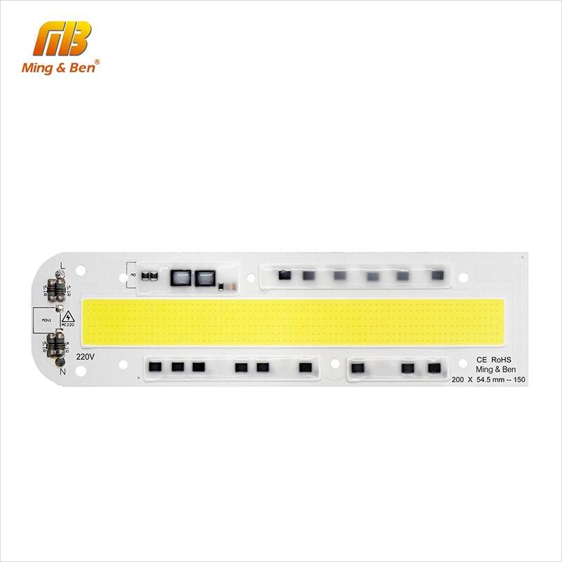 Smart IC LED COB Chip IP65 30W 50W 70W 100W 150W AC 220V 110V High Power Integrated Rectangle Beam DIY For Floodlight Spot Light